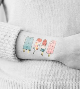 Colorful ice cream tattoo