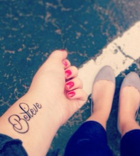 Cool believe tattoo