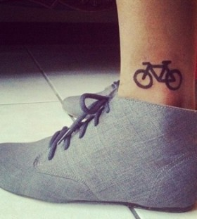 Cool bike tattoo