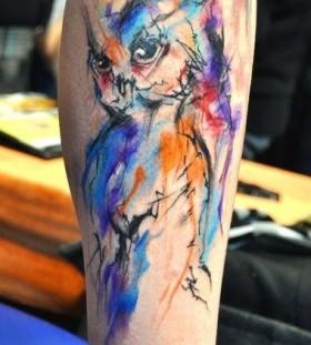 Cool owl Ondrash Tattoo