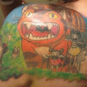 Cool tattoo of anime