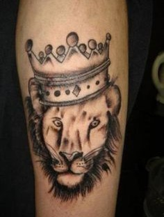 Cool tattoo with lion king