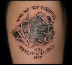Cool truck tattoo