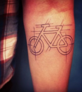 Cute bike tattoo