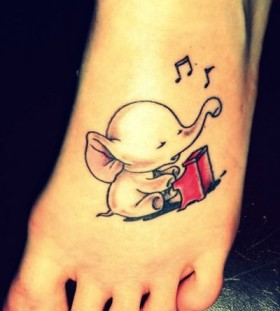 Cute elephant tattoo
