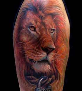 Cute lion tattoo