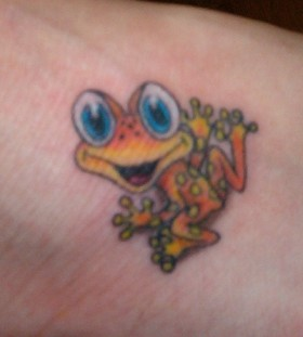 Cute little frog tattoo