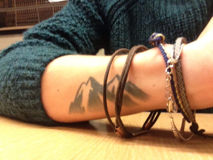 Cute mountains tattoo