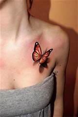 Cute red butterfly