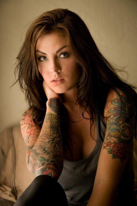 Cute woman tattoo