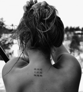 Date small tattoo