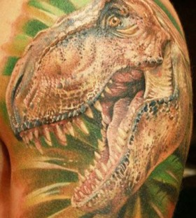 Dinosaur tattoo by Mikky Volkova