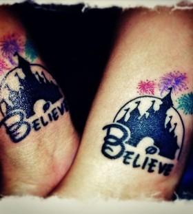 Disney and believe tattoo