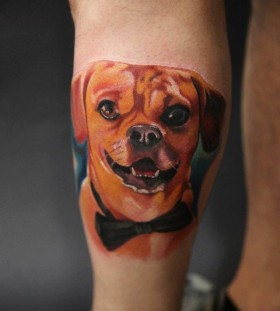 Dog tattoo by Art Junkies