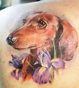 Dog tattoo by Mikky Volkova