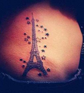 Eifell tower and stars