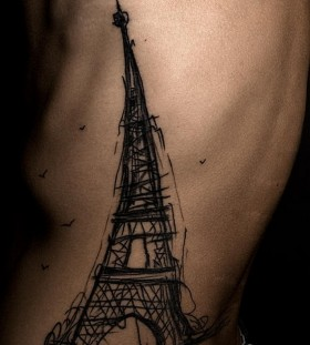 Eiffel-tower-sketch-tattoo
