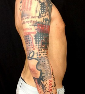 Famous person tattoo by Pietro Romano