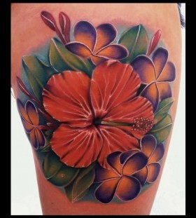 Flower tattoo by Art Junkies