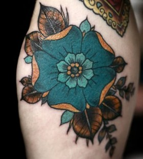 Flowers vintage style tattoos