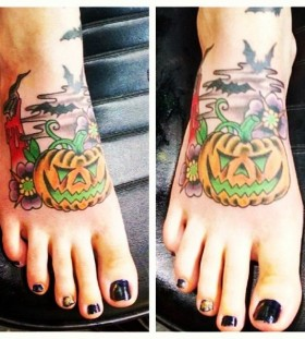 Foot halloween tatoo
