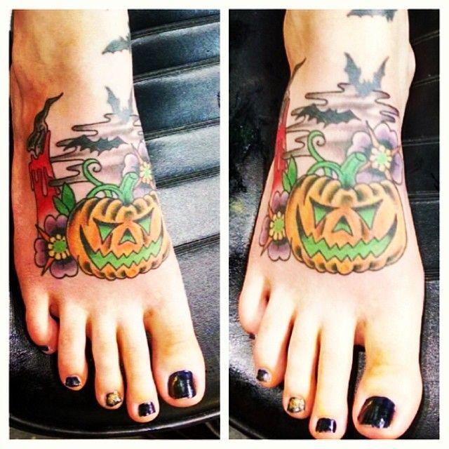 Foot halloween tatoo
