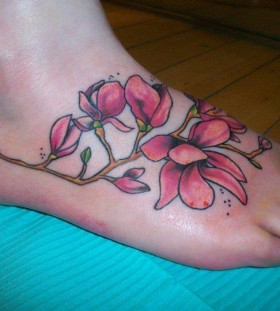 Foot tattoo by Hania Sobieski