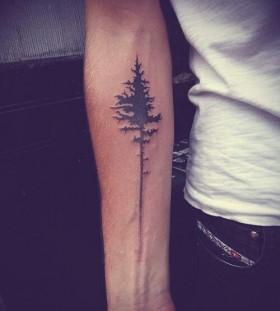 Forearm plant tattoo