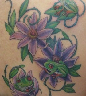 Frogs family tattoo