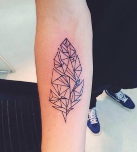 Geometric plant tattoo