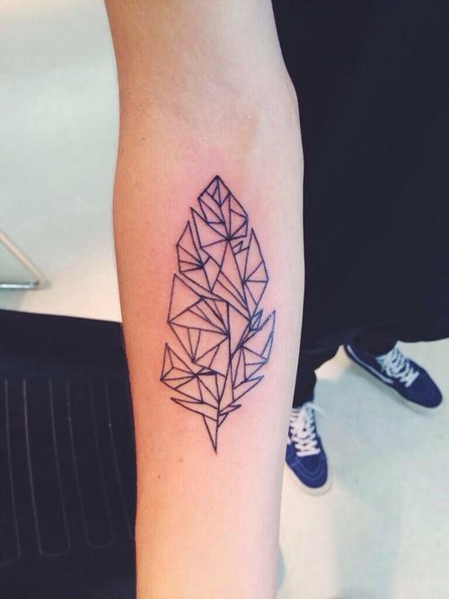 Geometric plant tattoo