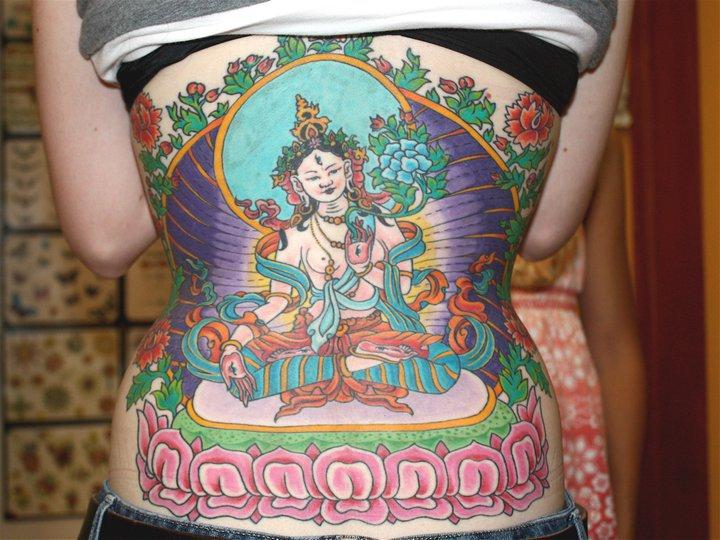 Girl tattoo by Mike Schweigert