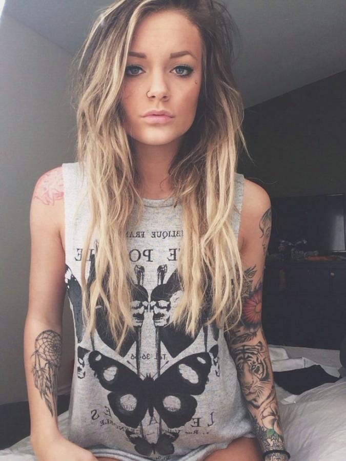 Girl vintage style tattoos