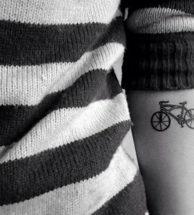 Gorgeous bike tattoo