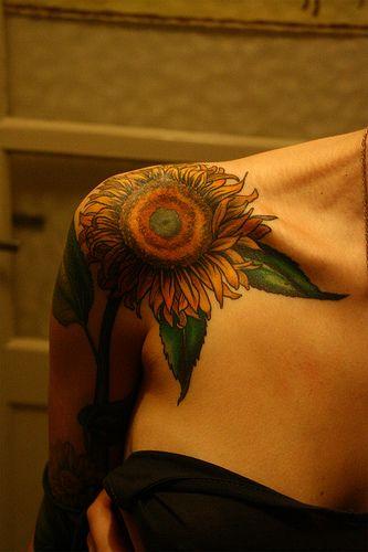 Gorgeous sunflower tattoo