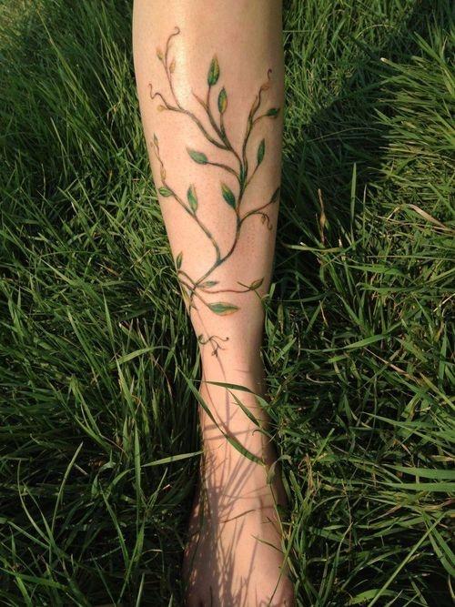 Grass plant tattoo