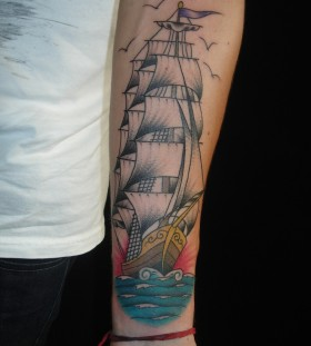 Great ship tattoo