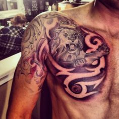 Great tattoo with lion