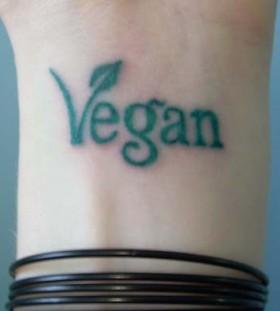 Green vegan tattoo