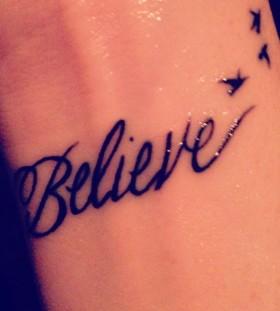 Hand believe tattoo