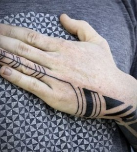 Hand black tattoo