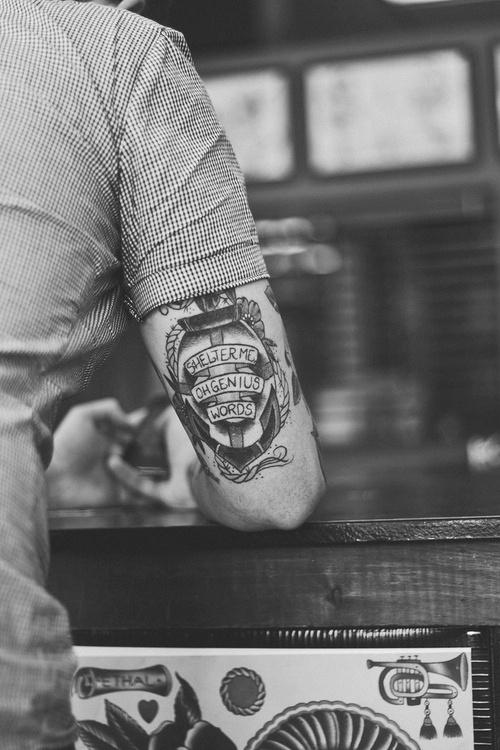 Hand man tattoo