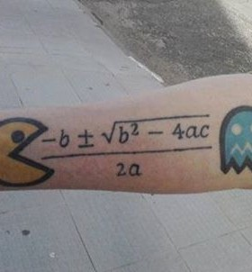 Hand math tattoos