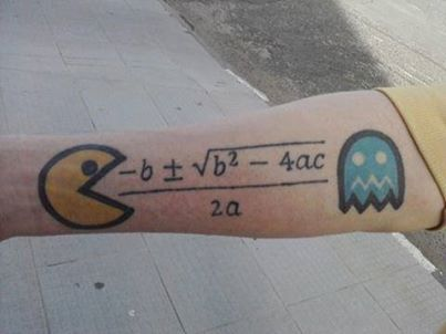 Hand math tattoos