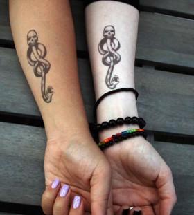 Hands nerdy tattoos