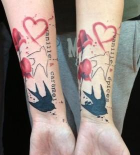 Hands tattoo by Pietro Romano