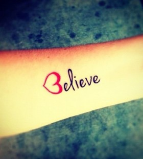 Heart and believe tattoo