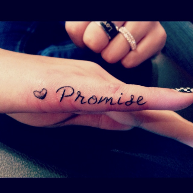 1f9b5e1ce5cc1 Heart and promise tattoo - | TattooMagz › Tattoo Designs / Ink Works ...