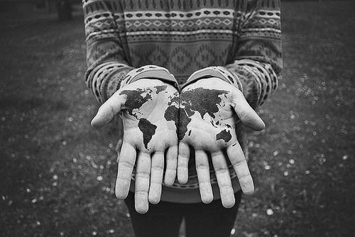 Holding the world black tattoo