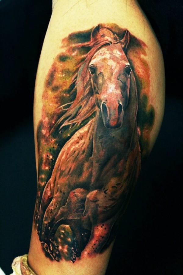 Horse tattoo by Seunghyun JO aka Potter